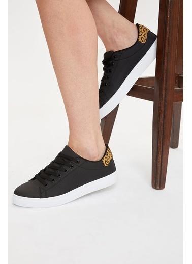 Defacto –Fit Bağcıklı Sneaker Ayakkabı Siyah